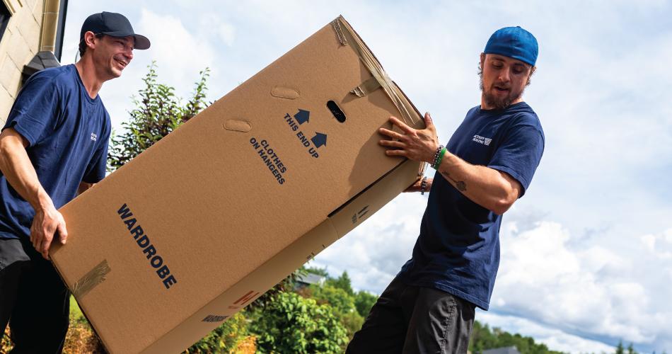 action movers moving wardrobe box