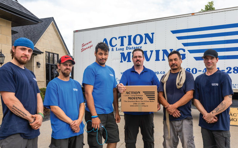 the edmonton movers team at action moving